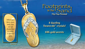 footprints in the sand gifts toe footsteps in the sand footprints in the sand flip flop