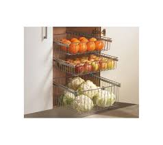 Basket Storage Shelves by Vegetable Baskets 200mm High Wire Base Pull Out 400mm Cabinets