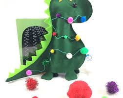Dinosaur Christmas Tree Decorations by Tree Topper Etsy