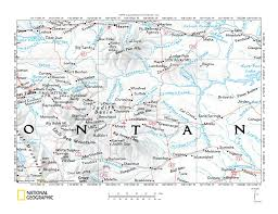 Montana County Map by Judith River Armells Creek Drainage Divide Landform Origins In