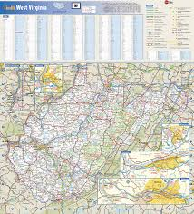 Map Of Wv West Virginia State Wall Map By Globe Turner