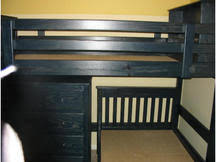 LShape Bunks By Size The Bunk  Loft Factory - Navy blue bunk beds
