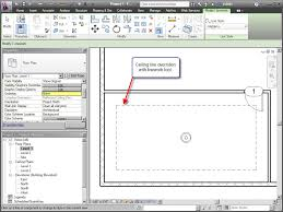 showing elements from a ceiling plan in a floor plan cadsoft