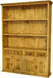 Mexican Pine Bookcase Rustic Furniture Pine Furniture Mexican Wood Furniture
