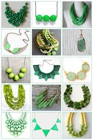 st patty s day finds green necklaces on etsy lark crafts