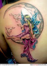 very detailed fairy tattoo check out the size and color of this