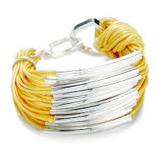 yellow bracelet images Multi strand bar bracelet knot wax cotton bracelet jpg