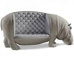 Hippo Ottoman Size Hippopotamus Sofa