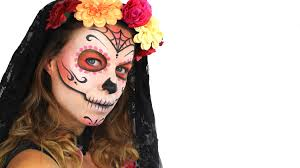 day of the dead makeup tutorial for halloween easy sugar skull