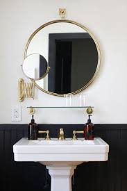 bathroom cabinets long white mirror black framed wall mirror