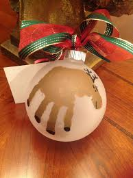 handprint ornament i am definitely going to do these next year my