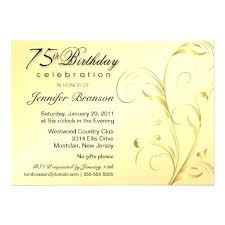 birthday announcements 75th birthday invitations birthday party gold