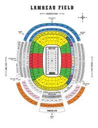 Green Bay Map Lambeau Field Seating Chart Titletown Tickets