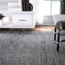 Black And Grey Laminate Flooring Nuloom Hand Woven Ago Rug