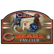 chicago bears fan site chicago bears fan club wooden sign vintage sign shack wood signs