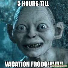 Frodo Meme - 5 hours till vacation frodo meme gollum 57220