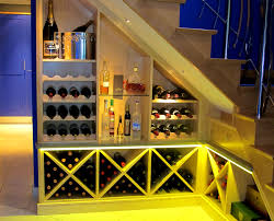 vintage wine rack under the stair come with beautiful wine rack
