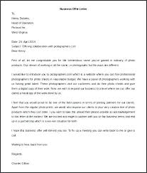 Business Letter Offer business letter template noshot info