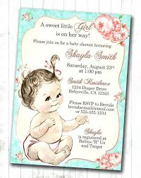 etsy baby shower invitations also shabby chic floral vintage baby