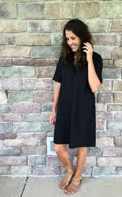 3 ways to style a black dress with pockets momma in flip flops