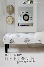 stunning diy tufted bench