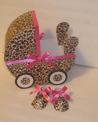 carriage centerpiece leopard baby carriage table centerpiece gift box