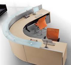 Reception Office Desks by Curved Office Desk Furniture Paneled High Gloss Desk Set Des 0989