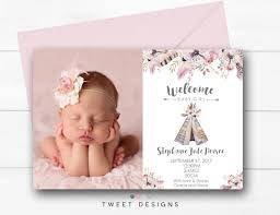 baby announcements baby girl birth announcements