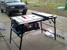 universal table saw stand with wheels portable table saw stand the drops right into it and i have the