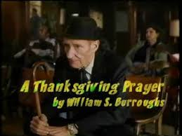 a thanksgiving prayer by william s burroughs
