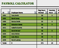 Free Excel Payroll Template Business And Finance Free Excel Templates From Activia
