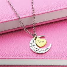 sted necklaces gold you to the moon and back necklace best necklace