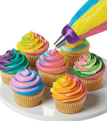 colorful swirls cupcakecolorful swirls cupcake baking ideas