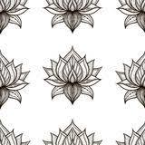 lotus sketch vector pattern stock vector image 61054960