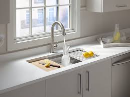 K Prolific UnderMount StainlessSteel Sink With - Kohler corner kitchen sink