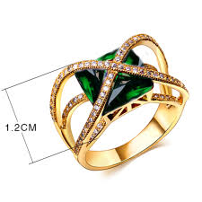 jewelry designs rings images Square crystal ring luxury women 39 s designer rings crystal unique jpg