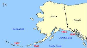 alaska on map alaskan tsunamis