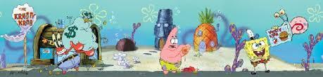 spongebob squarepants self stick wall border sale