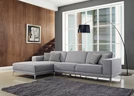 agata sectional fabric sofa in light grey color by creative furniture