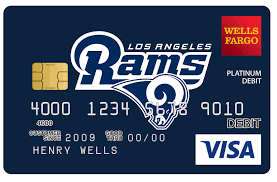 customized debit cards fargo teams up with los angeles rams as community player of