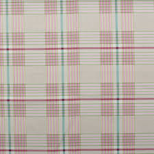 Curtain Upholstery Fabrics Watercolour Floral Tartan Check Linen Cotton Panama Curtain