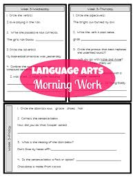 third grade language arts morning work ashleigh u0027s education journey