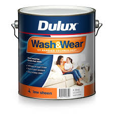 dulux wash u0026wear 4l vivid white low sheen paint bunnings warehouse
