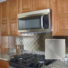 winsome stainless steel tile backsplash home depot 98 stainless