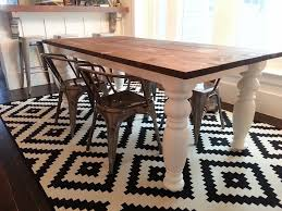 diy farmhouse dining room table u2014 tfd style