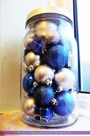 fill a jar with ornaments