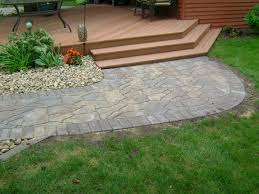 irregularly shaped paver puzzle walkway oasis landscapes west