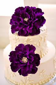 dk designs eggplant purple peony cake flowers