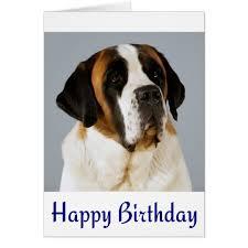 happy birthday bernard puppy card zazzle