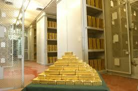 chambre forte les réserves d or de la banque de la chambre forte
